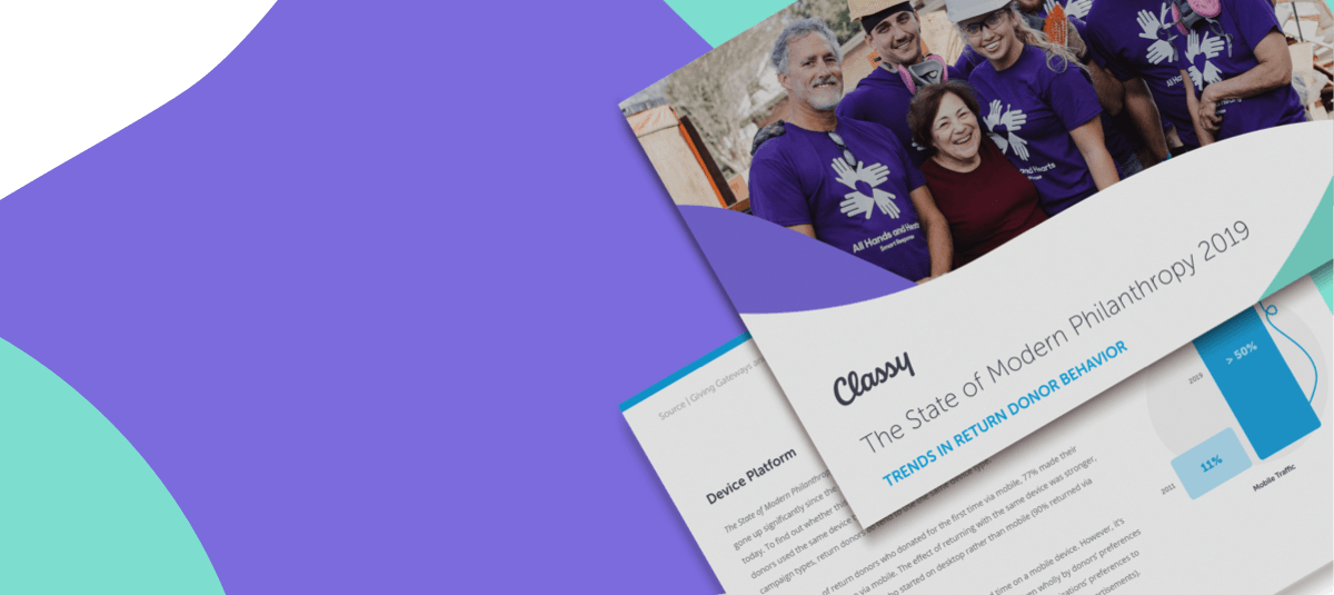 example pages from the State of Modern Philanthropy 2019 report