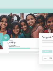 Peer-to-peer fundraising dashboard header image