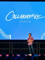speaker speaking at the nonprofit conference the Collaborative 2019