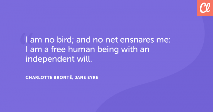 Charlotte Bronte Quote about Freedom