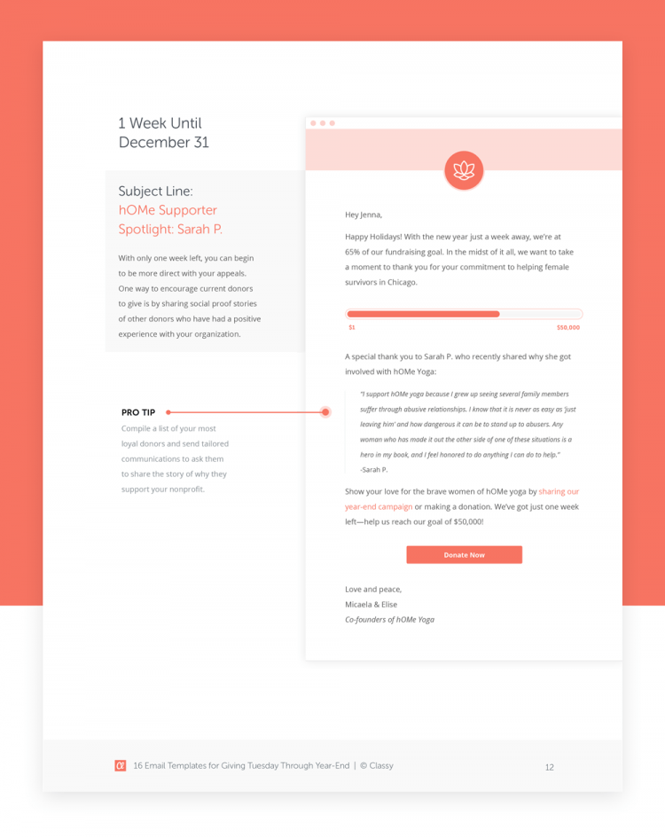 email templates for year end fundraising