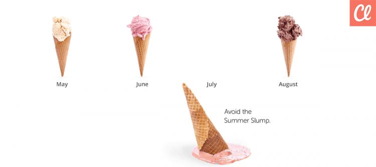 summer slump graphic classy