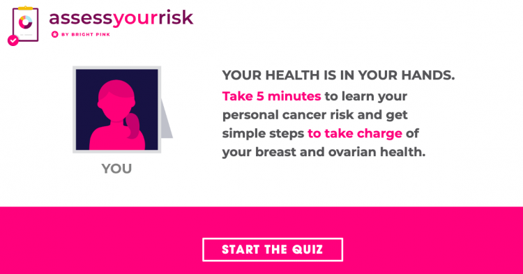 bright pink assess your risk quiz