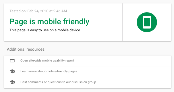 google tools mobile friendly test