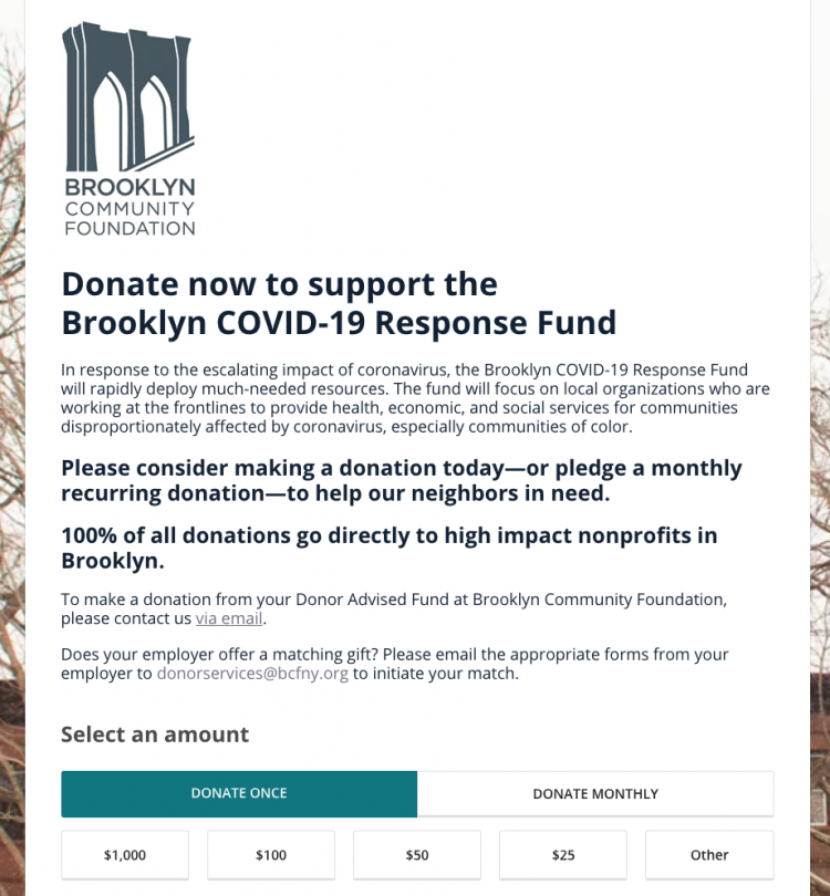 creative coronavirus fundraising campaigns