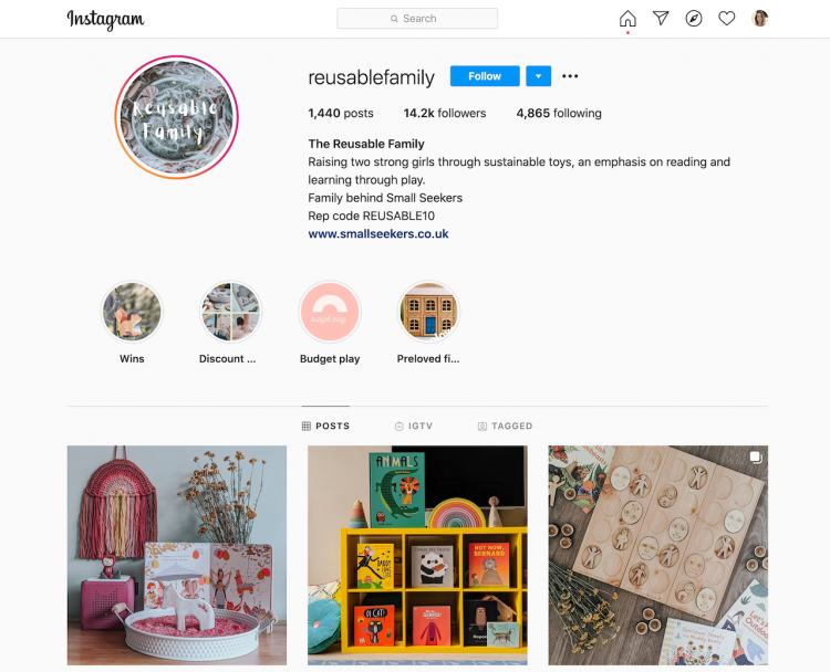 reusable family instagram