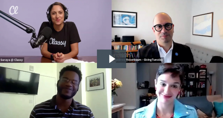 A video of three fundraising strategy experts discusses how COVID-19 will impact Giving Tuesday 2020 and year-end fundraising.