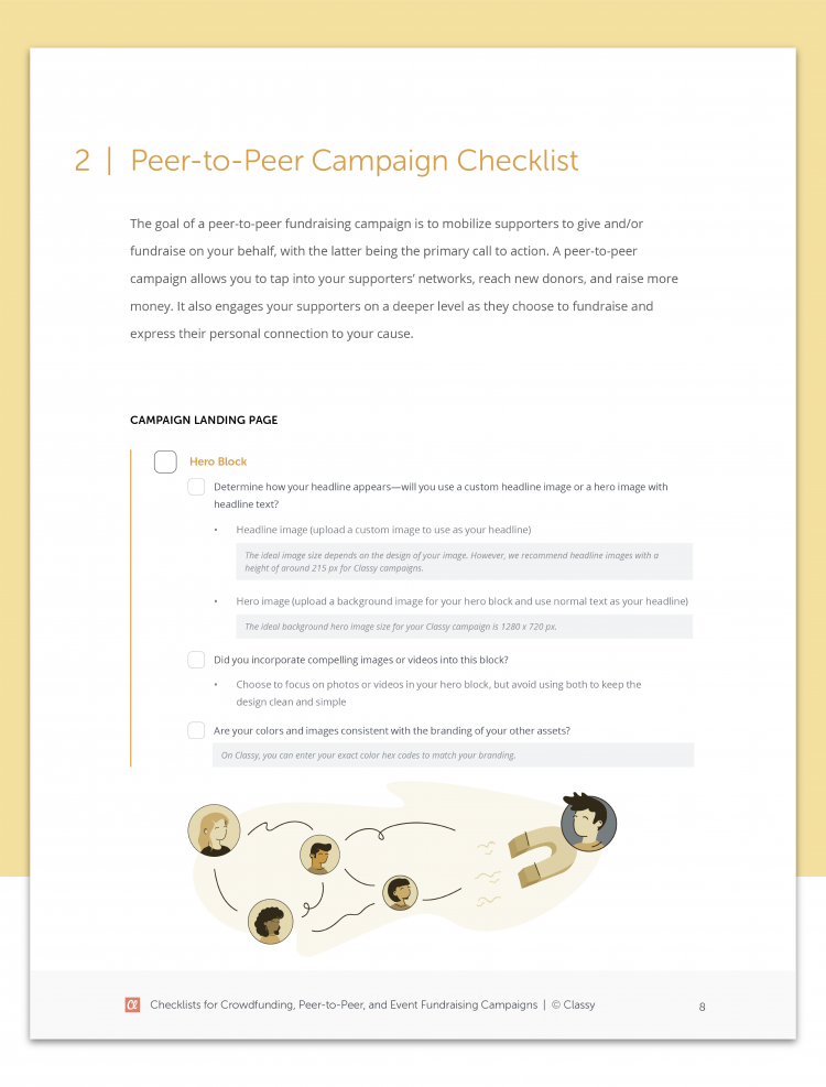 teaser photo of peer to peer campaign checklist
