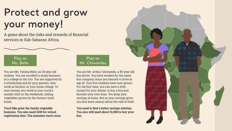 graphic with illustration of Africa