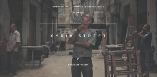 screenshot from Syria Street website