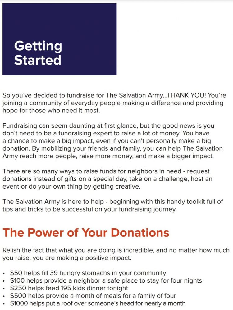 welcome email example in fundraisers toolkit