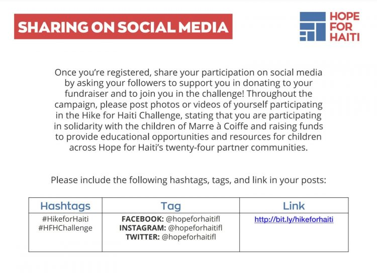 hashtag examples in fundraisers toolkit