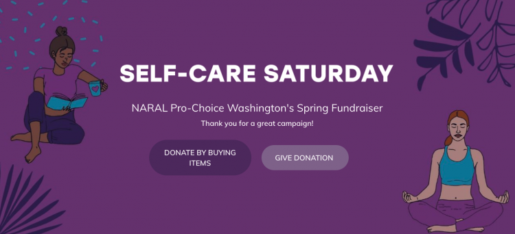 sample virtual store fundraising campaign page