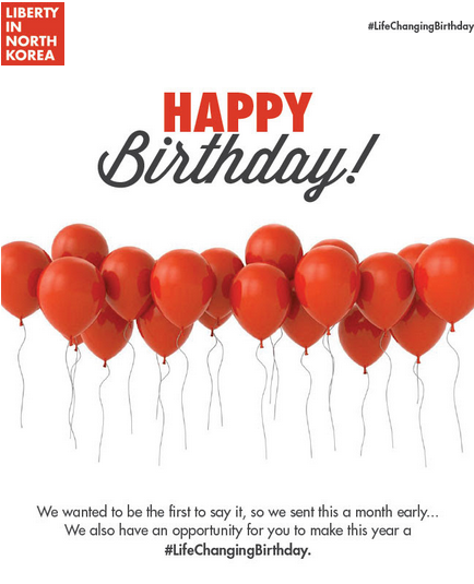 donate birthdays to charity email from LiNK