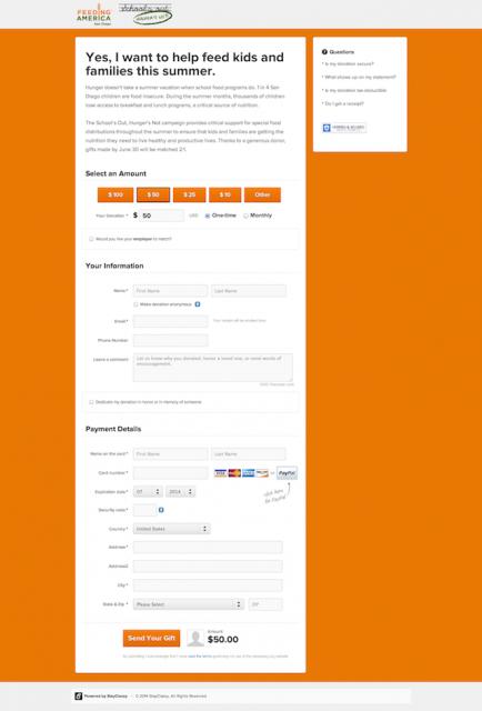 stayclassy live donation page
