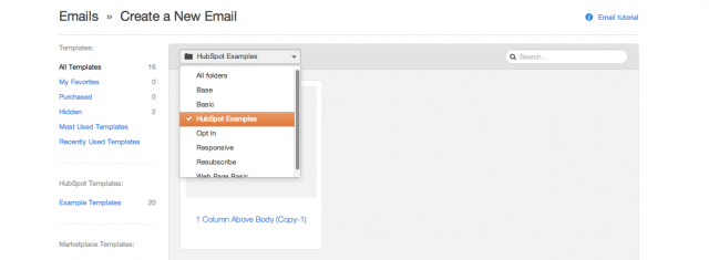creating an email in HubSpot CMS