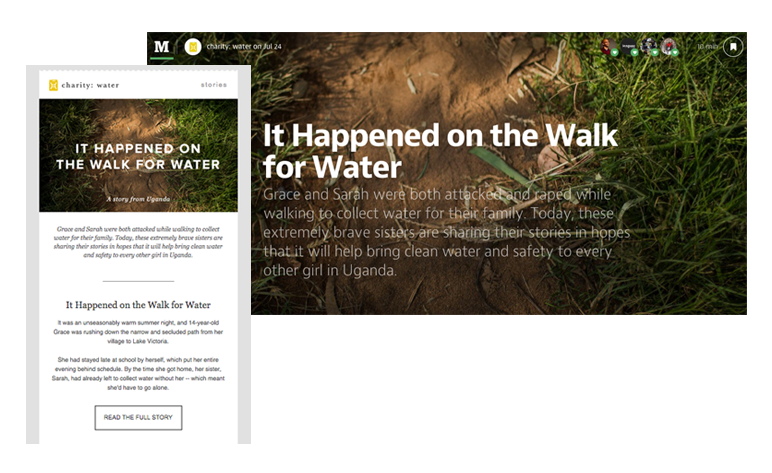 charitywater Email Medium