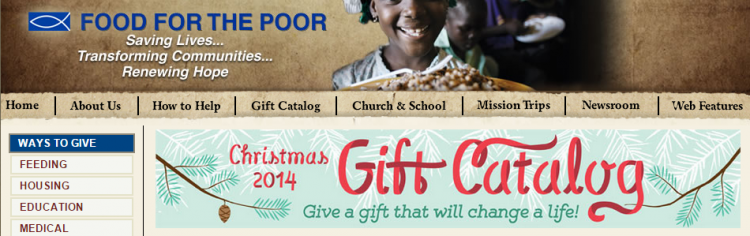 Food4Poor last minute gift ideas header