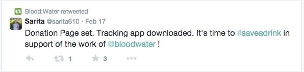 Blood:Water Customer Service Retweet
