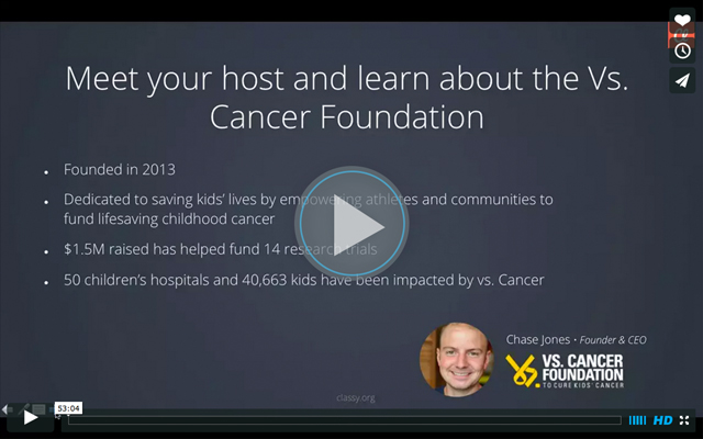 Webinar Vs. Cancer Play