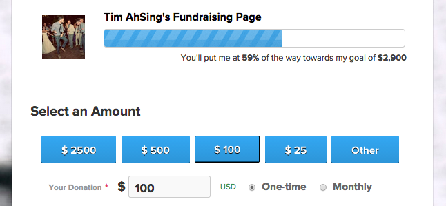 Donation Page Progress Bar
