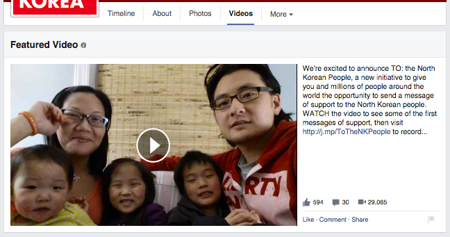 Liberty in North Korea Facebook Featured Video