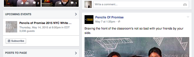 Pencils of Promise Facebook Events