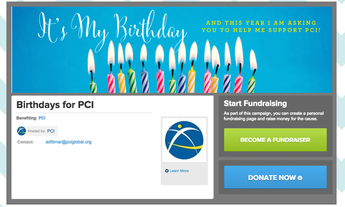 Fundraising Event In the Form Of a Birthday Campaign