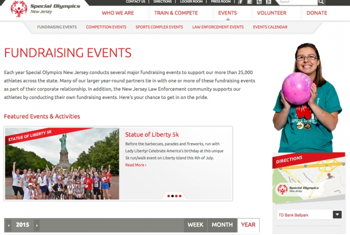 Special Olympics New Jersey Fundraising Event Page and Directions