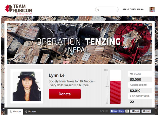 Lynn Le Personal Fundraising Page
