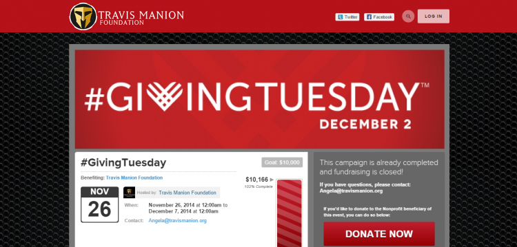 #GivingTuesday campaign