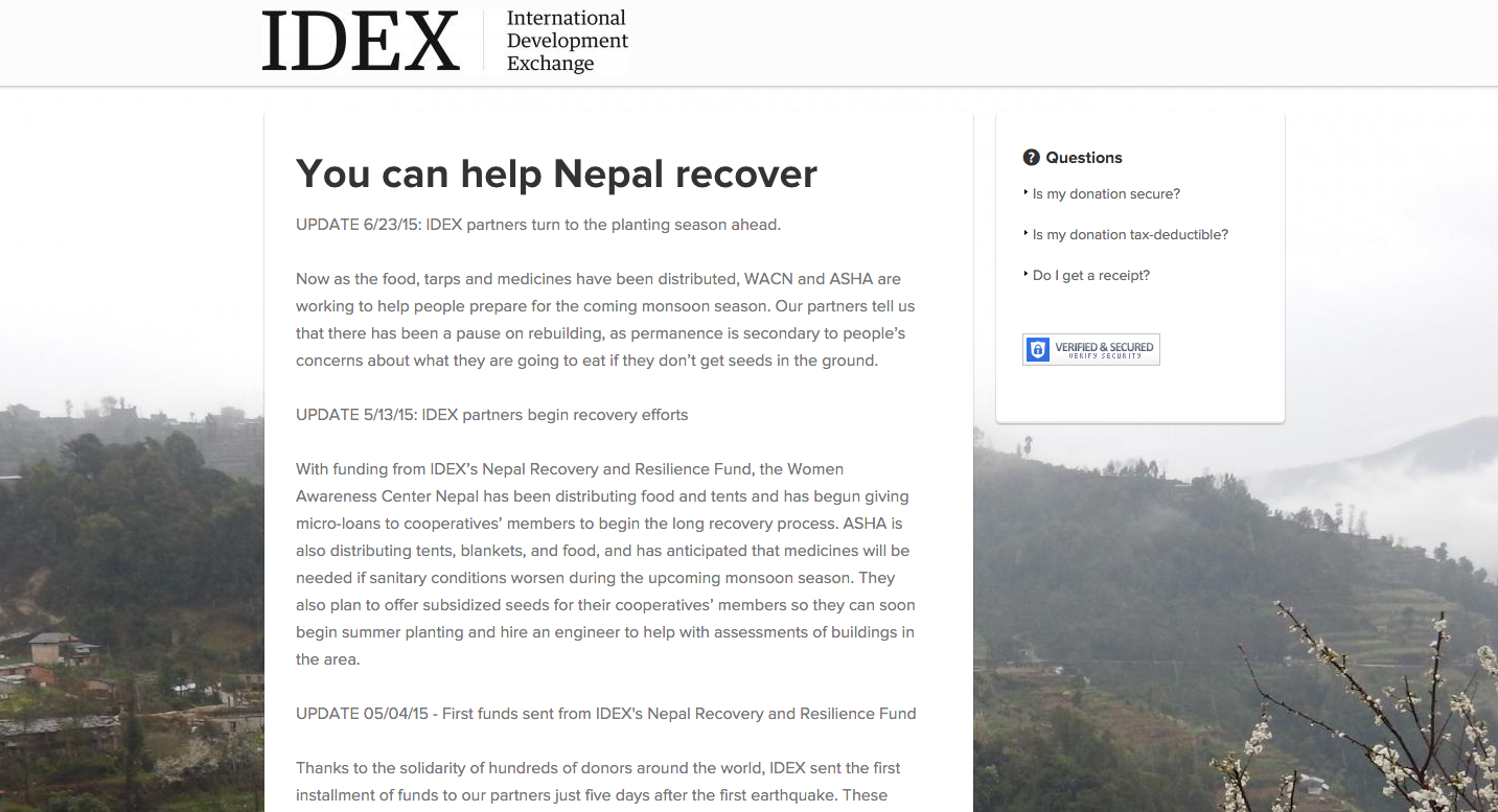 IDEX-nepal-recovery-page