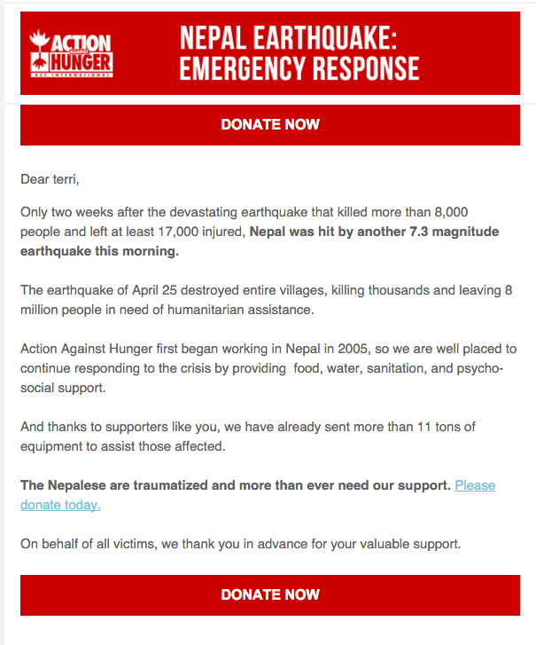 letter to a friend about fund raising campaign for earthquake victims in indonesia s Offer relief to nepal earthquake victims is responding to save the children's donation appeal and helping them achieve their goal of raising $10 million.