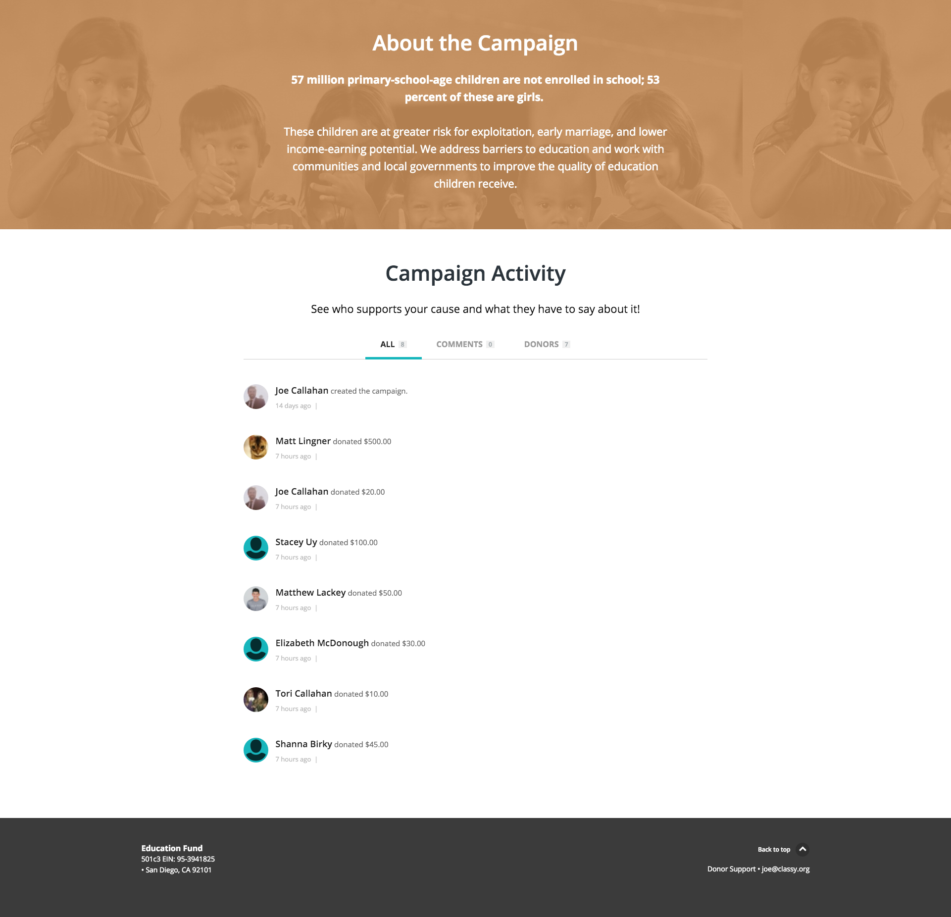crowdfunding-campaign-classy-page-activity