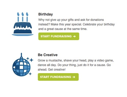 List of creative ideas for fundraising.