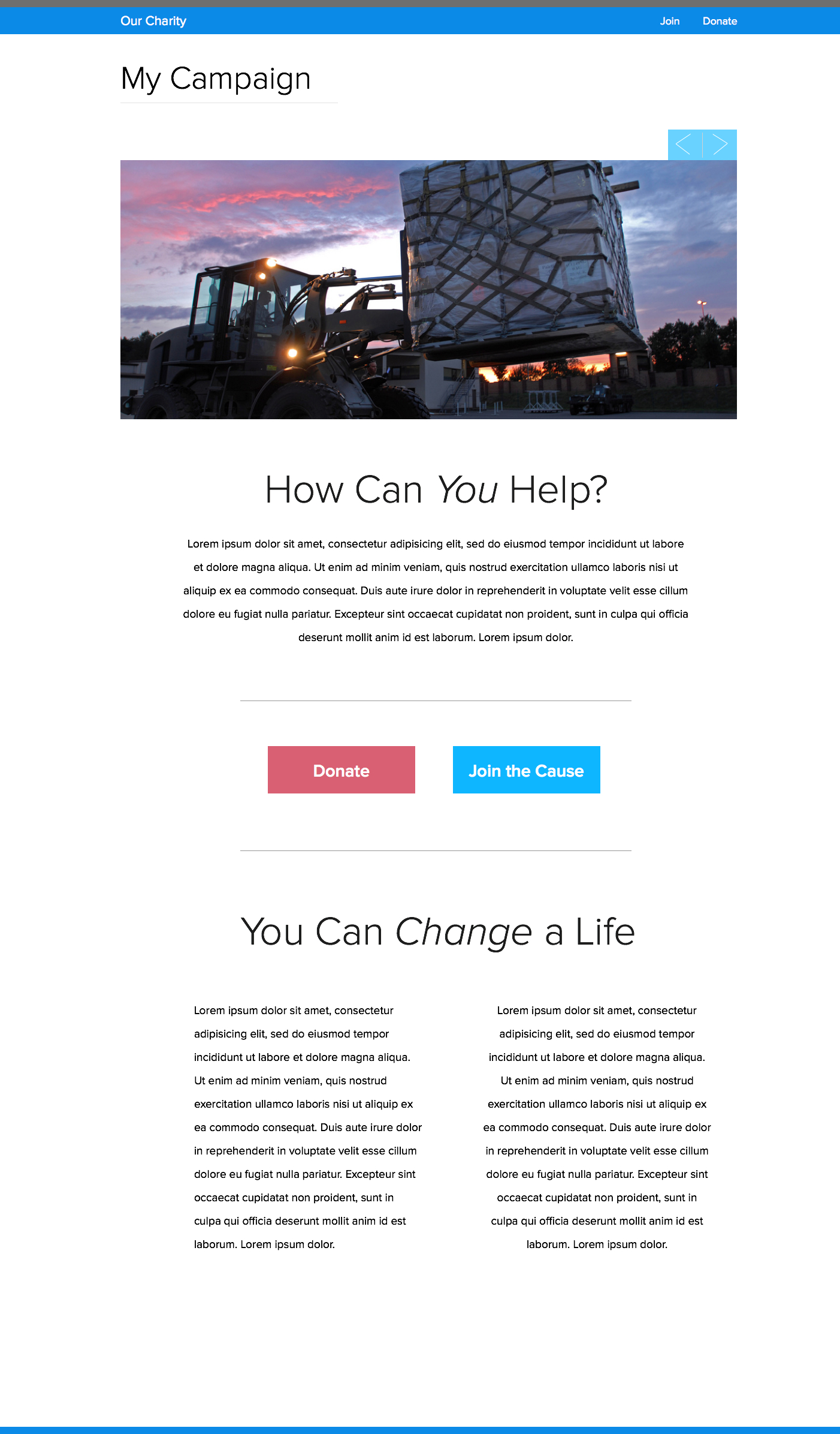 The nonprofit microsite what why how best practices for Free microsite templates